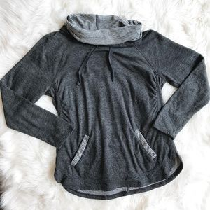 Sundry Cowl Neck Pullover Sweatshirt o909